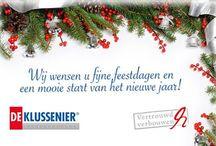 Feestdagen! / Wij wensen u fijne feestdagen!