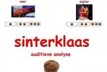 Sinterklaas auditieve analyse hak en plak apen