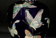 porcelánok 2 maiolica jardeniere