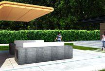 Ogród z nowoczesną architekturą
