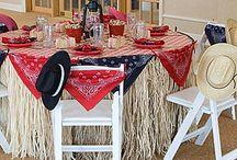 Grant's 70th cowboy party