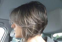hair cut an white