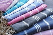 Soft furnishings / Striped Turkish bath sheets