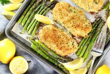 Parmesan Pork Chops With Asparagus