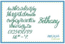 Embroidery Script Fonts
