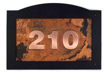 Custom copper address signs