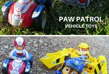 Paw Patrol Vehicle Toys / All the Paw Patrol Vehicle Toys for the Paw Patroller and other playsets.  These Paw Patrol Vehicles fit with the Lookout Tower and other play sets.