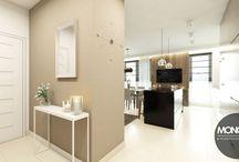 Projekt salonu z kuchnią w ciepłych, jasnych barwach / Dziś przedstawiamy nasz najnowszy projekt otwartej przestrzeni salonu z kuchnią. Wszystko utrzymane w ciepłych, jasnych barwach, nadając charakter przytulności i domowego ciepła:)  Po więcej inspiracji zapraszamy na Naszą stronę internetową:biuro@monostudio.pl oraz na Facebooka