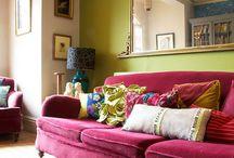 Pink sofas