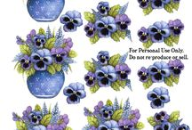 Bloemen plaatjes voor 3d kaarten