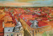 Urban Watercolors / Urban Watercolor by Gabriela Calinoiu.