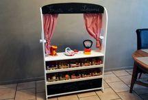 Fabriquer une marchande théâtre en bois pour enfants