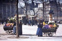 Early colour photos, Paris / Beautiful early colour photos--1910-1920 of Paris. These are real colour photos, not hand-coloured black and white ones.
