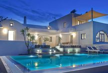 Villa Aleria #Santorini #Greece #Island / Villa Aleria, in Santorini Island, is a 250 m2 luxury residence, fully renovated in 2014, with Hotel tailor-made services and dedicated concierge. http://www.mygreek-villa.com/rent-villa-search/villa-aleria