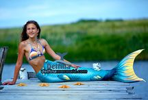 Mermaid's tails seria Queen of the Sea  color Magic Marina / Here you can view and buy a beautiful mermaid tail aqua with scales and fins like a real tail.