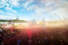 Color Show / Color Show na Woodstocku dzięki Ricoh, podczas koncertu Ani Rusowicz wyleciało w powietrze 10 tysięcy kolorów holi. fot.Anna Migda, Michał Sandecki, Igor Kohutnicki, Szymon Aksienionek