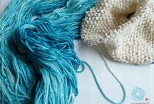 ♡ dying / Fibre and yarn dying fun taking place in my art studio!
