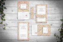 "Wedding Invitation ""Calendar"""