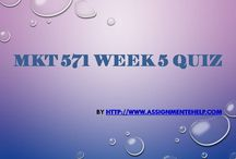 MKT 571 Week 5 Quiz
