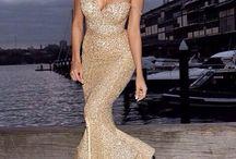 Dress white gold silver