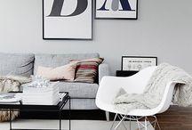 Black & white - monotone interior - / シンプルでシックなモノトーンのインテリア。