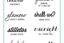 Fonts / Fonts & Typography