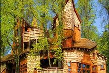 treehouses, cottages, unique abodes / by Carrie Cannon
