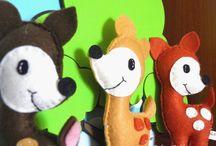 Forest Animals - Μπομπονιέρες Βάπτισης: Τα ζώα του Δάσους. / Felt Forest Animals