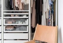 Walk-in-closet inspiration board