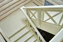 Лестница в стиле прованс