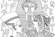 Egyptian Coloring pages / New Egyptian Coloring pages from Stress Relief coloring App. Color your version