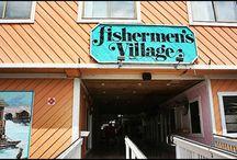 Fishermen's Village, Punta Gorda, Florida / Waterfront mall, resort & marina facing beautiful Charlotte Harbor in Southwest Florida