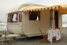 Caravan Crazy / As a child I used to go camping with Mum and Dad. We only had a square canvas tent, and I so envied those campers with caravans! Guess I'm making up for it here. ;)