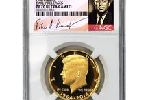2014-W Kennedy 50th Anniversary Gold High Relief Proof Half Dollar / 2014-W Kennedy 50th Anniversary Gold High Relief Proof Half Dollars in graded NGC and PCGS!