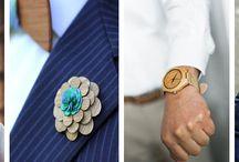 Drewniane dodatki dla Pana Młodego / Wybierając drewniane dodatki takie jak: muchy, spinki do mankietów, zegarki, okulary, kwiatki do butonierki czy obrączki; stawiacie na indywidualność w dniu ślubu!
