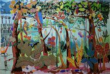 Thierry Virton - figurative free paintings / figurative free paintings - outsider art paintings - following CoBrA movement