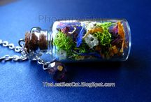 Glass Bottle Terrarium Jewelry