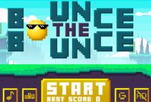 Bounce the Bounce / Bounce the Bounce is a never-ending game of avoiding prickly rocks and burning lava. The pixel-art designed game will put the player's skills on test and their nerves, too, for sure.  Both games are available for download on iOS and android, all levels can be completed without spending any money. The games offer optional in-app purchases.