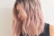 pænt lyserødt hår