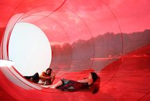 Landed Objects - in water / http://100architects.com/blog/product/floating-ground/