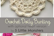 Crochet Bunting and Garlands / free crochet patterns for wonderful bunting and garlands