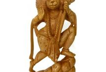Hindu Lord Hanuman Decorative Spiritual Statues For Home Decor / Indian Hindu Lord Hanuman Bajarang Bali Statues | Handmade Sculptures Powerful God Hanuman Statues