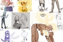 Bocetos dibujos