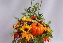 aranjament floral lemn