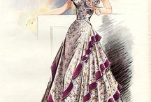 Inspiration: Evening Gowns / Sewing patterns of evening gowns ranging from the 20s - 50s