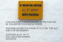EXPOSICIONES / Este tablero va a tratar de las exposiciones  en mi estudio, Los dias 5,6,7,y 8  de 10 a14 horas invito a todos los amantes del arte  a que se acerquen