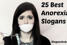 Anorexia Slogans