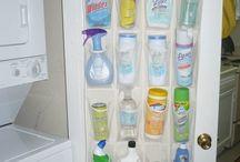 Cleaning supplies storage