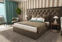 classic hotel rooms design / hotel room rendering