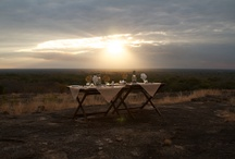 Out of Camp Dining / Sundowners, dinners on rocks and breakfast on islands!